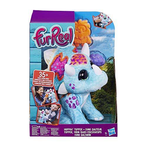 Hasbro furReal Topper, Mein Baby-Triceratops, interaktives Plüschtier, mehr als 35 Geräusch- und Bewegungskombinationen