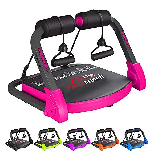 XN8 Bauchmuskeltrainer Abs Core  Fitness Coach Intelligente Maschine- Bauchtraining Geräte- Einstellbarer -Sit-Ups-Fitness-Traininshocker (Rosa)