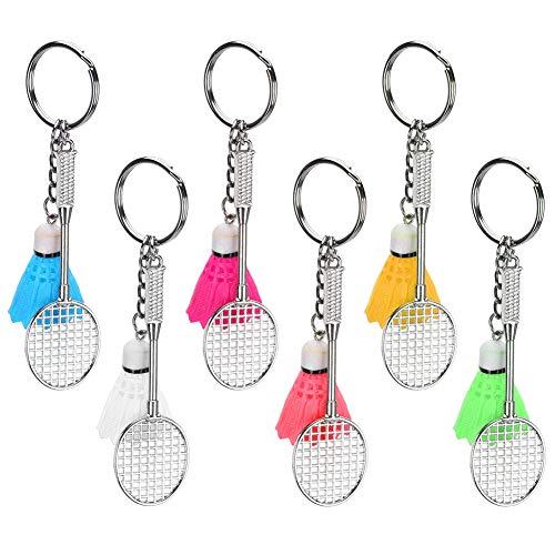 Mini Badminton Schlüsselanhänger, Simulation Sport Schlüsselanhänger Premium Metall Federball und Battledore Modell mit exquisiter Handwerkskunst für Taschen/Beutel Dekoration