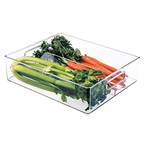 iDesign Kühlschrank + Behälter für Einfrieren, Kunststoff, Transparent, 36,83 x 30,48 x 10,16 cm