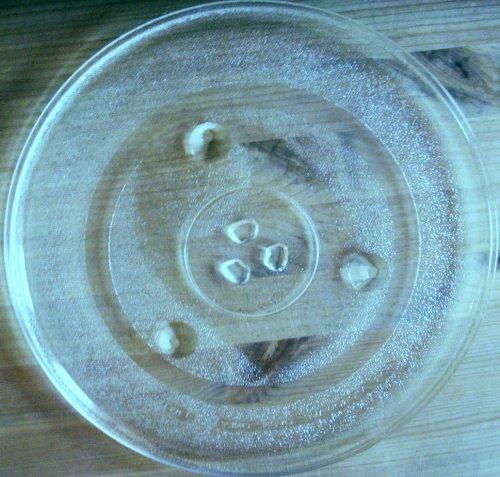Mikrowellenteller / Drehteller / Glasteller für Mikrowelle # ersetzt Cybercom Mikrowellenteller # Durchmesser Ø 31,5 cm / 315 mm # Ersatzteller # Ersatzteil für die Mikrowelle # Ersatz-Drehteller # OHNE Drehring # OHNE Drehkreuz # OHNE Mitnehmer