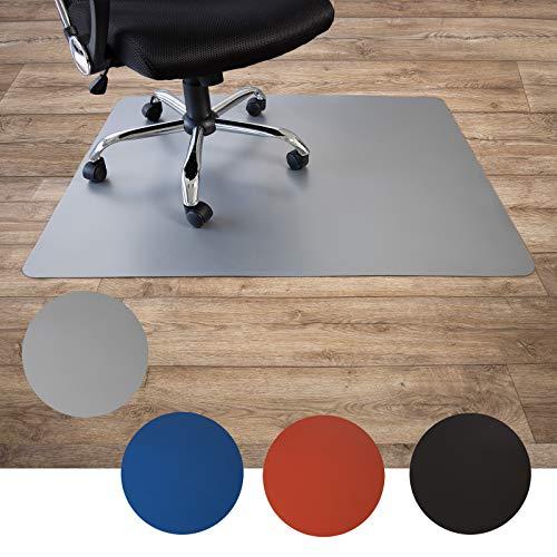 Floordirekt Bodenschutzmatte für Hartböden | aus Polypropylen| Buerostuhlunterlage | Stuhlunterlage | Schutzmatte | Hartboden | BUNT | 3 Größen (120 x 150 cm, Grau)