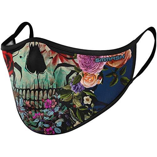 SMMASH Mundschutz Maske Wiederverwendbar, Hochwertiges Gesichtsmaske Waschbar, Multifunktional Trainingsmaske für Radfahren, Laufen, Staubschutzmaske für Damen, Herren (S/M, MURETE)