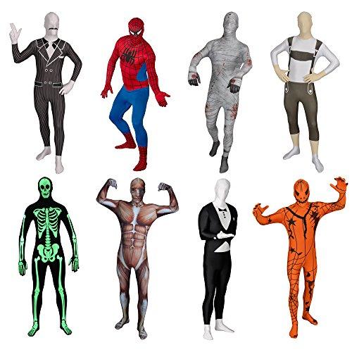 Funsuits Original Lederhose Ganzkörperanzug Anzug Kostüm Gr. S / M / L / XL / XXL [L]