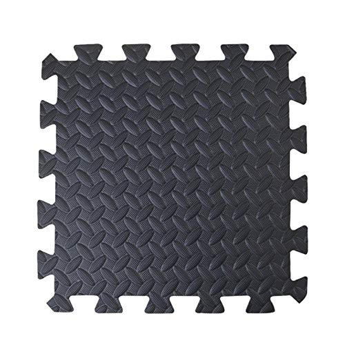 Schutzmatten Set Puzzlematte Bodenschutz Matte - 12 Puzzle Bodenschutzmatten Unterlegmatte | Fitnessmatte Turnmatte Sportmatte Trainingsmatte Boden Schutz, Sport Fitnessraum Keller Garage Fitness Pool