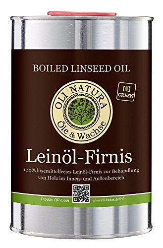 OLI-NATURA Leinöl-Firnis, biologischer Holzschutz, 1 Liter, farblos - natu