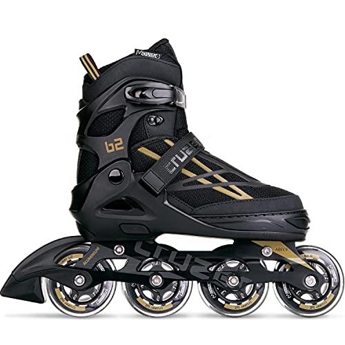 Movino Inline Skates Damen Herren Kinder   Cruzer B2   Verstellbare Rollschuhe   Inliner Skates mit ABEC9-Lager   Rollschuhe Große Räder 76 mm   Bequeme Inliner Skates für Männer Frauen