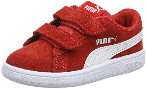 PUMA Unisex Kinder Puma Smash V2 Sd V Ps Sneaker, Rot High Risk Red Puma White, 30 EU