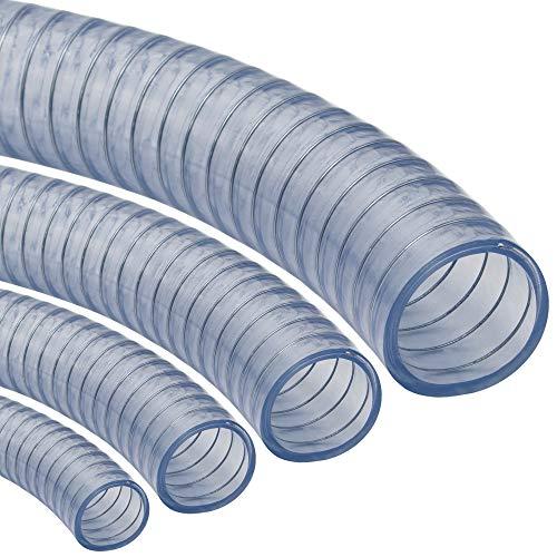 Saugschlauch *TRANSPARENT Klar Spiralschlauch Förderschlauch Pumpen Druckschlauch - METERWARE (40 mm)