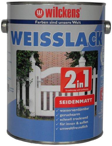 Wilckens 2-in-1 Weisslack seidenmatt, 2,5 L, weiß 12491100080