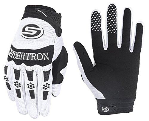 Seibertron Herren Handschuhe Dirtpaw Race Fahrrad Handschuhe sporthandschuhe für Radsport MTB Mountainbike Outdoor Sport Bike Gloves (weiß, M)