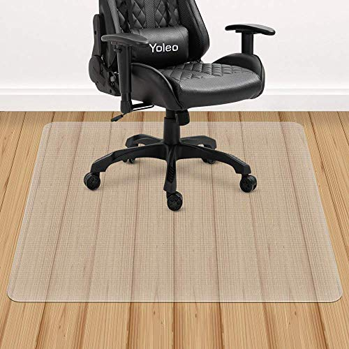 YOLEO Bodenschutzmatte transparent rutschfest 2 Größe Bürostuhl Schreibtischstuhl Unterlage wasserdicht hochwarmfest Kinderfreundlich für Hartböden Fliesen Parkett usw (135x114 cm)