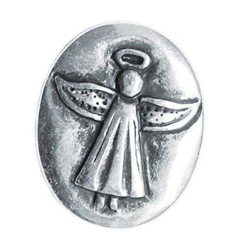 Spirit of Avalon Schutzengel Engel Münze Silber (Ich Bin bei Dir) Guardian Angel - Handschmeichler Glück Schutz Kommunion Taufe Geburt Konfirmation
