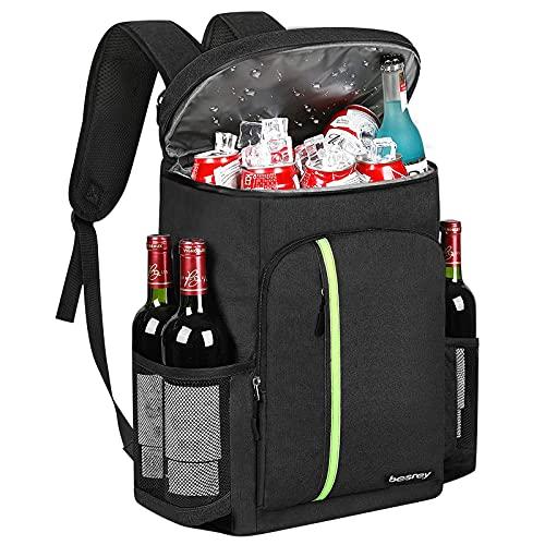 besrey 30 L Kühler Rucksack Thermo Rucksack isolierte Kühltasche Thermotasche Picknicktasche 39 Dosen mit Flaschenöffner für Camping Picknick Reise