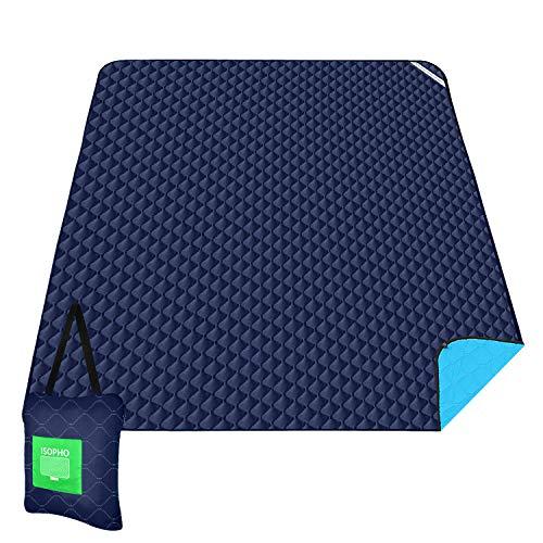 ISOPHO Outdoor-Picknickdecke Extra große wasserdichte Campingdecke mit Umhängetasche Bequeme sanddichte Picknickdecke 55.1