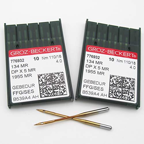 Groz Beckert Needle 20 Groz Beckert 134MR 1955MR DPX5MR Langarm-Quiltmaschinennadeln (20 Stück Groz-Beckert-134MR 21/130)