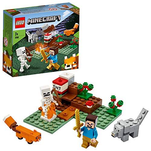 Lego 21162 Minecraft Das Taiga-Abenteuer Bauset mit Steve, Wolf und Fuchs Figuren, Spielzeug für Kinder ab 7 Jahren