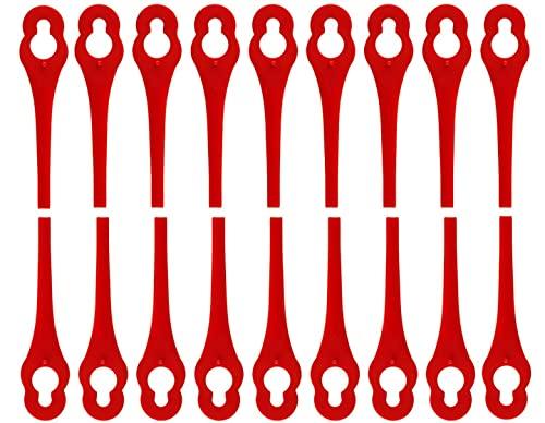 100 Stück Ersatzmesser für Ihren Florabest LIDL FRTA 20A1 FAT18B2 FAT18B3 ,Kunststoffmesser für Akku Rasentrimmer Florabest