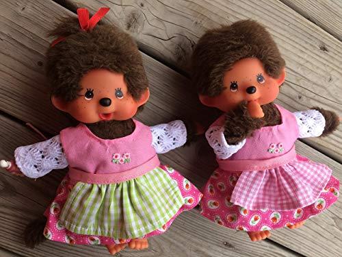 Puppenkleidung handmade passend für MONCHICHI Gr. 20 cm Dirndl Kleid + Schürze Bekleidung NEU