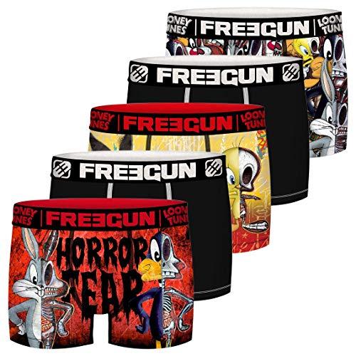 Freegun Jungen LOONEY TUNES TWEETY ET BUGS BUNNY FG/LOO/AM/3/PK5 Unterwäsche, P1, 6/8 Jahre (5er Pack)