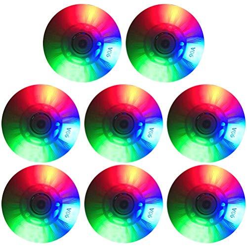 CZSMART 8 Stück leuchtende Inline-Skates Rollen, Roller Skate Rollen, LED-Blitz Blinkende Skate-Räder Ersatzrad 70 mm Inline-Rolle für Kinder und Jugendliche