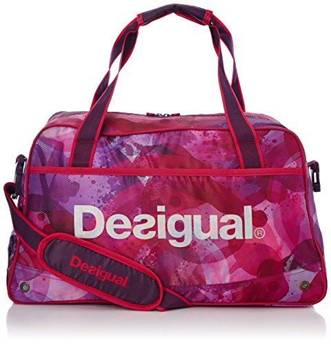 Desigual Sport Bag Acuarelas, Damen Umhängetaschen, Violett (Violet (3070 Purple Potion)), onesize