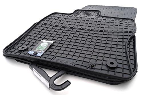 kh Teile Gummimatten passend für Golf Sportsvan Gummi Fußmatten 4-teilig schwarz