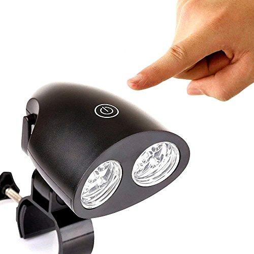 ZSZT LED BBQ Grill Lampe, Schwenkbar Beleuchtung Nachtlicht Touch Sensor Schalter Batteriebetrieben für Camping Fischen Kochen Outdoor, aus hitzebeständigem ABS Material hergestellt Mit