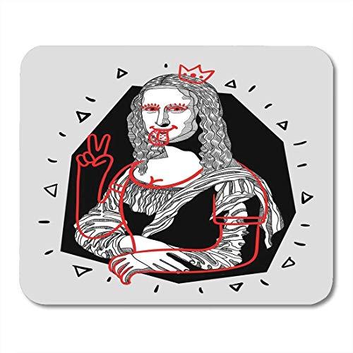 Mauspads italienische zunge design taschen broschüren mona lisa gioconda von da vinci berühmte skizze mauspad für notebooks, Desktop-computer matten büromaterial