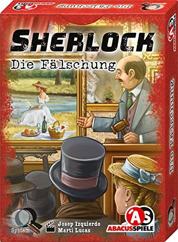ABACUSSPIELE 48213 - Sherlock - Die Fälschung, Krimi Kartenspiel