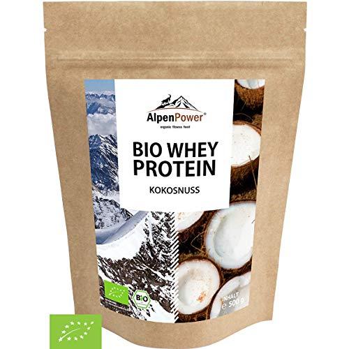 ALPENPOWER | BIO WHEY Protein Kokosnuss | Ohne Zusatzstoffe | 100% natürliche Zutaten | Bio-Milch aus Bayern und Österreich | Superfood Kokosnuss | Hochwertiges Eiweißpulver | 500g