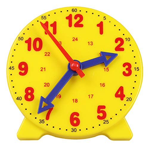 Camelize-Lernuhr, Lernspiel Uhr,Zeitunterrichts- und Demonstrationsuhrmodell, Lernressourcen für Kinder in der frühen Bildung, 4 Zoll 12/24 Stunden ab 4 Jahren