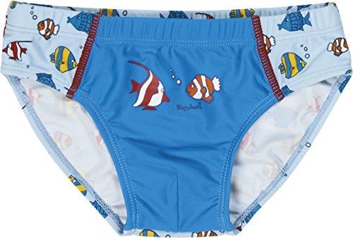 Playshoes Jungen UV-Schutz Fische Badehose, Blau (original 900), 110 (Herstellergröße: 110/116)