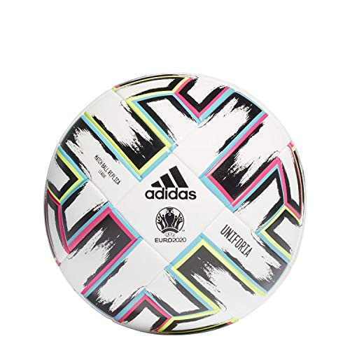 adidas Men's UNIFO LGE XMS Soccer Ball, White/Black/Signal Green/Bright Cyan, 5