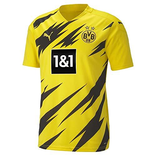 PUMA Herren BVB Home Shirt Replica w/o Sponsor (Large) New T, Cyber Yellow Black, 4XL, Cyber Yellow-Puma Black