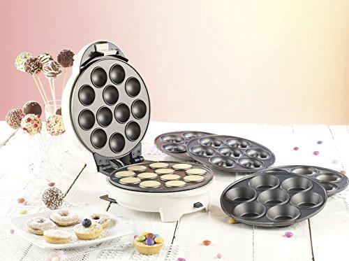 Rosenstein & Söhne Donatmaker: 3in1-Donut-, Cupcake- und Cakepop-Maker mit Antihaftbeschichtung (Donut Muffin & Cake Pop Maker)