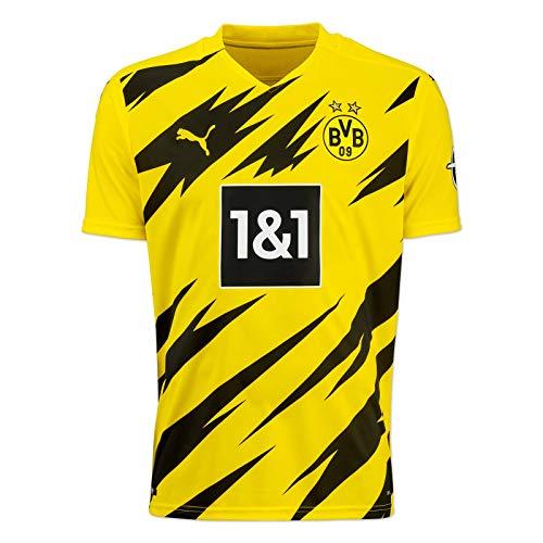 Puma BVB HOME Trikot Replica 20/21 T-shirt, Cyber Yellow-Puma Black, 152