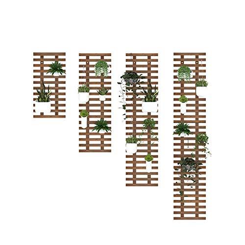 CJSWT Holzgitter Wandpflanzer- Pflanze Klettern Hängende Rahmen Gitter Pflanze Unterstützung Zaun Innenluftanlage Vertikale Rack Wanddekoration für Zimmer Patio Garten