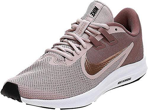 Nike Damen Downshifter 9 Running Shoe, Smokey Mauve/MTLC Red Bronze-Stone Mauve, 38.5 EU