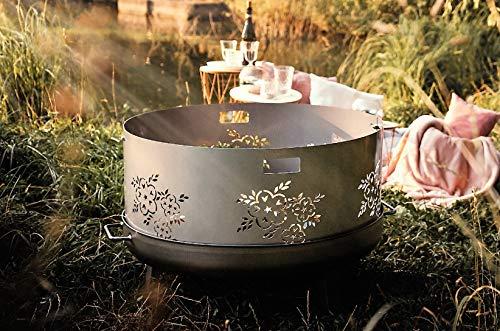 Czaja Feuerschalen® Funkenschutz Blumenmotiv für alle Feuerschalen Ø55cm