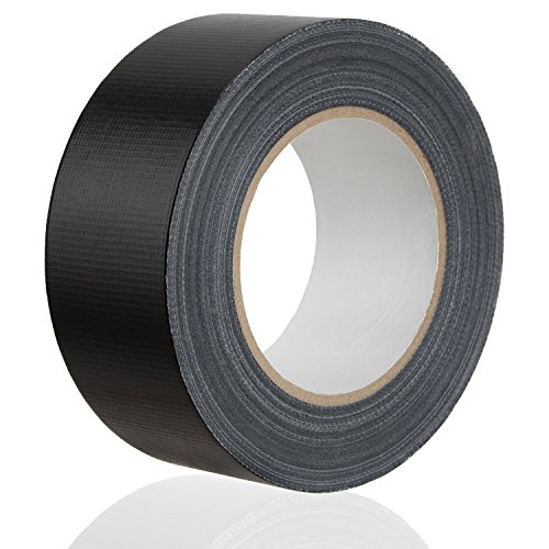 MAXKO Panzertape, extra stark, schwarz, 50 m x 50 mm – gewebeverstärktes Reparaturband, gewebeverstärktes Folienband, Gewebe-Klebeband, Gewebeband, Panzertape, Panzerband, Isolierband