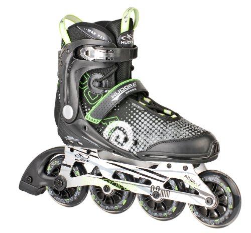 HUDORA Inliner Inline-Skates RX-90, Gr. 36, für Jugendliche und Erwachsene, schwarz/grün