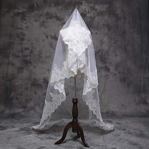 Olydmsky Schleier Braut,Braut Schleier Mibale Seide Spitze 118 In super Long-Tail weiches Garn Hochzeitsfoto Brautkleid