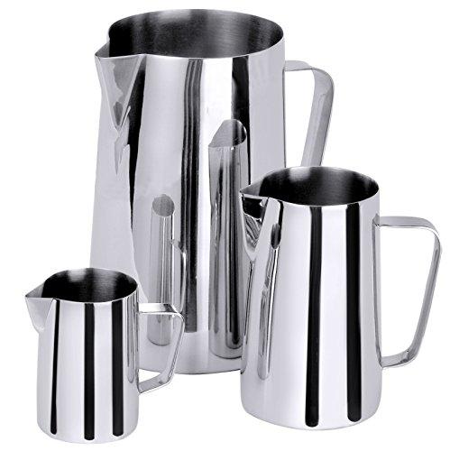 Milch-/Wasserkanne aus Edelstahl 18/10, Griffe stumpf geschweißt, extra schwere Qualität / Inhalt: 0,3 bis 5 Liter   ERK (A5 - Inhalt: 2 Liter)