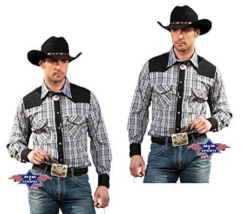 STARS & STRIPES Herren Hemd Westernhemd Biker Country Cowboy Western Westernstyle »Brian« Gr.XL