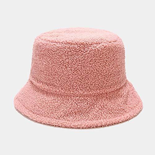 Bucket Hat Hut Damen Herren Feste Eimer Hut Unisex Hut Männer Und Frauen Panamahut Warme Sonnencreme Angeln Hut-Pink