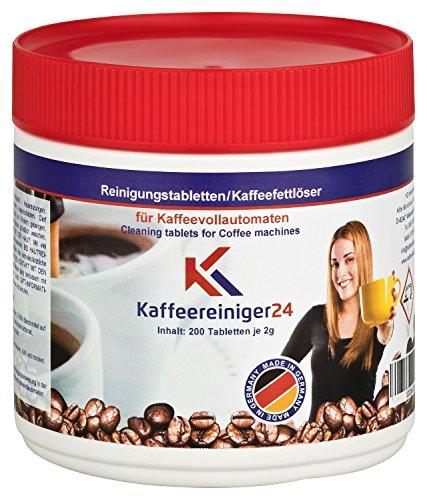 Reinigungstabletten für Kaffeevollautomaten 200 Stück je 2g geeignet für Jura, Siemens, Melitta, Krups, Bosch uvm.