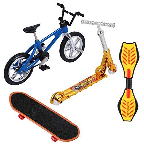 VORCOOL Mini Finger Spielzeug Set Winzige Finger Skateboard Fahrräder Roller Kleine Schaukel Fingerspitze Bewegung Sport Frühen Lernspielzeug für Weihnachten Kinder Party Tasche Füller