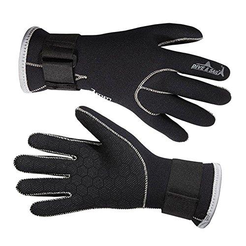 Aogolouk 3MM Neoprenhandschuhen Handschuhe zum Surfen, Tauchen, Schwimmen, Wassersport (M)