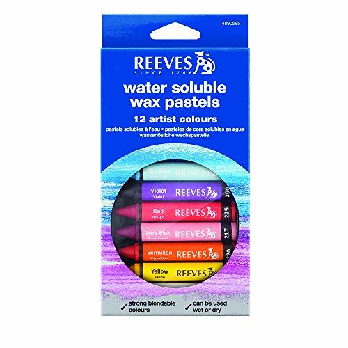 Reeves Aquarellkreide, Wasservermalbare Wachspastelle, 12